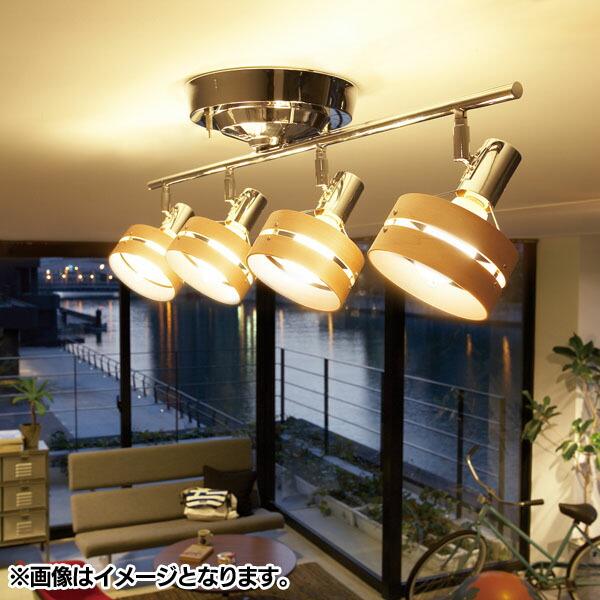 ���ŵ�̵���ۥ��ݥåȥ饤�� 4�� Spot mercury-remote ceiling lamp AW-0320Z �֥饦�ʥ�����