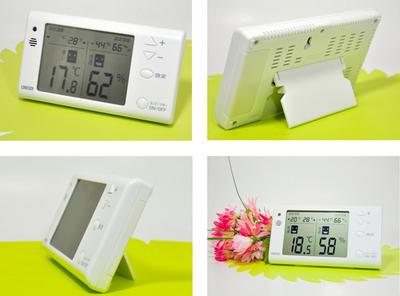 アラームつきデジタル温度湿度計CR1210W
