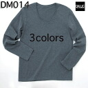Basic U neck long sleeve T shirt / d'Arc DALUC #DM014 plain