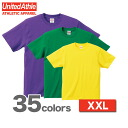 6.2-Ounce half-sleeve t-shirt (XXL) athle UNITED ATHLE #5942-01 plain.