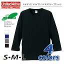 4.4 ounces of try blend 4/5 sleeve T-shirt #1296-01 ユナイテッドアスレ UNITED ATHLE
