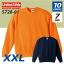 It is ユナイテッドアスレ UNITED ATHLE #5728-01 10.0 ounces of crew neck sweat shirts (pile) (XXL)