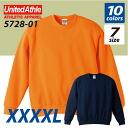 10.0 oz crew neck sweatshirts (pile) ( XXXXL ) athle UNITED ATHLE #5728-01.