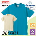 4.0 an ounce and a half sleeve t-shirt (Size XXL) / United sure UNITED ATHLE #5806-01 plain.