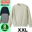 12.0oz crew neck sweat shirt #5512-01 (big size XXL) ユナイテッドアスレ UNITED ATHLE heavyweight plain fabric)