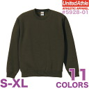 10.0 ounces of CVC crew neck sweat shirt / ユナイテッドアスレ UNITED ATHLE #5928-01