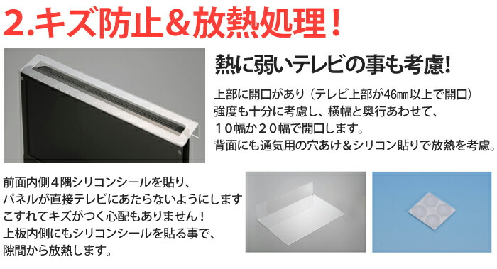 キズ防止、放熱処理を行なった液晶保護パネルです。