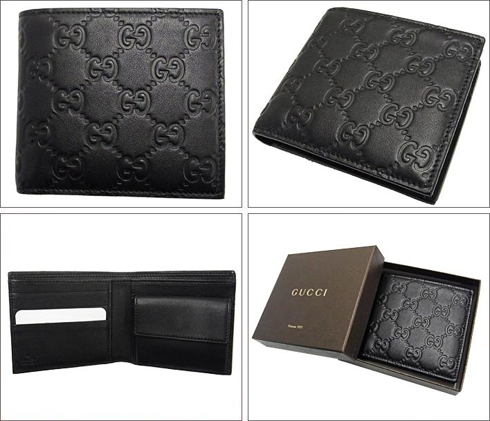 グッチ財布 グッチシマ  二つ折り財布 ブラック メンズ財布 GUCCI 146223 A0V1R 1000