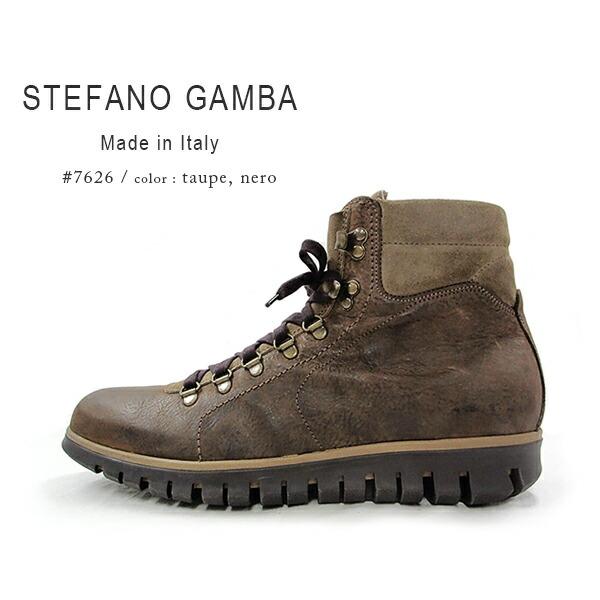 STEFANO GAMBA ステファノガンバ / メンズ ボア 本革 ブーツ レースアップブーツ ボアブーツ トレッキングブーツ イタリア