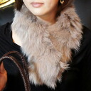In a review] Fox fur muffler (patchwork type choker tippet)