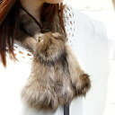 [Russian sable coat fur muffler] Russian sable coat Rose motif yarn muffler (KT0538 )■ stall)