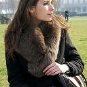 Fur Tippet scarf scarf SAGA Fox Fur ( Fur ) ヘチマカラー muffler, Tippett, collar, and stole large (Silver Fox) (1 / 2) ■
