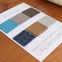 Semi order your color swatch table ( table in leather trade fair & lining trade )