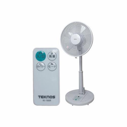 【納期約1~2週間】TEKNOS テクノス KI-166R 30cm羽根リビングリモコン扇風機 KI166R