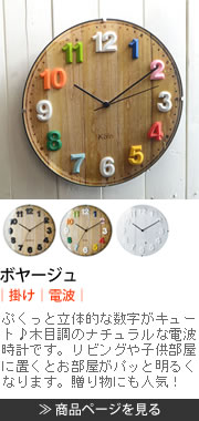 ボヤージュ CL-7975 掛け時計 電波時計
