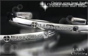 ララクリスティー LARA Christie クリスティークロスハート ペアバングル [ PAIR Label ]【送料無料】【即納】【2014年コレクション】【プレゼントに最適】10P03Dec16