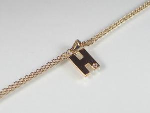 イニシャル「H」K10PGダイヤブレスレット10P03Dec16