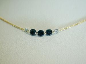 ブルーダイヤモンド&ダイヤモンドのK18ネックレス10P26Mar16