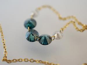 ブルーダイヤモンド&ダイヤモンドのK18ネックレス10P03Dec16