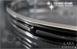 ララクリスティー LARA Christie オリンピア バングル [ BLACK Label ブラックレーベル] 【送料無料】【即納】【プレゼントに最適】10P03Dec16
