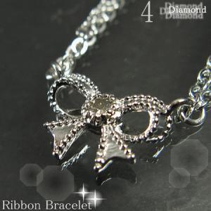 ダイヤモンドリボンブレスレット【4月誕生石】10P03Dec16