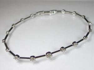 K18WG ホワイトゴールド ダイヤモンド ブレスレット10P03Dec16