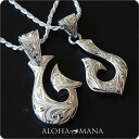 Hawaiian jewelry necklace pair pendant fish hook SILVER925 fpd2960pair