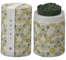 カメヤマローソクのミニ寸お線香 和遊(わゆう)シリーズ 緑茶の香り