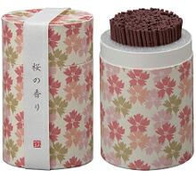 カメヤマローソクのミニ寸お線香 和遊(わゆう)シリーズ 桜の香り