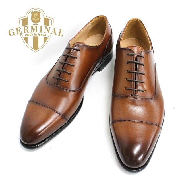 GERMINALジェルミナル8501(BROWN:ブラウン)本革革靴メンズドレスビジネスシューズストレート