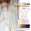 M-large size Womens tops ■ add new colors! Hem shirt breast pocket ■ original tops sewn t shirt M L LL 3 l 11, 13, 15, [[K41515]] * [[K41922]] (BBW chubby loose)