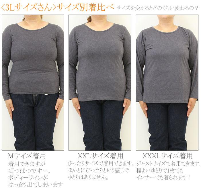 大きいサイズ レディース トップス 長袖 カットソー CUTSEW tシャツ