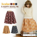 M-large size ladies skirt ■ perfect patchwork its natural style ♪ ■ ska-g. ska - g SKIRT skirt-free M L LL 3 l 11, 13, 15, []
