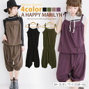 M-large size Womens pants ■ popular items resurrection! Cute camisoles salad salopette pants cropped-length ♪ ■ Marilyn original all-in-one free M L LL 3 l 4 l 11, 13, 15, 17, [] large