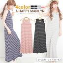 * M-large size ladies one piece ■ border sleeveless Maxi dresses ■ dress Maxi dresses Maxi-length dress Maxi M L LL 3 l 4 l 11, 13, 15, 17, larger [[WK-0017]]