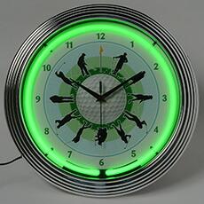 ゴルフ ネオン クロック レトロ 壁掛時計