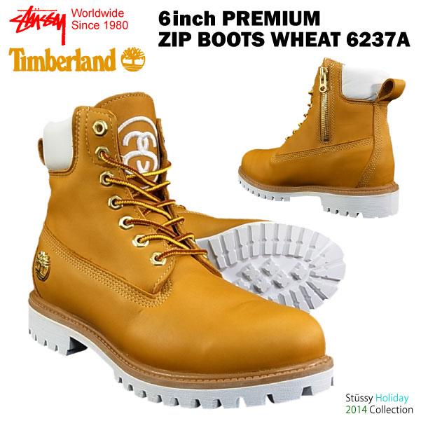 stussy x timberland 6 inch boot wheat