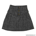 Pure Neemo M Size - PNM 3 Buttoned Mini Skirt: Black (DOLL CLOTHING)(Back-order)