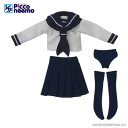 Picco Neemo Wear 1/12 Long-sleeved Sailor Uniform/ White (DOLL CLOTHING)(Back-order)
