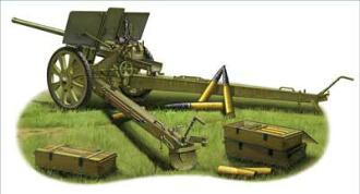 1/35 露76.2mm野砲M1936 (F22) プラモデル(1/35 Soviet 76.2mm M1936 (F22) Divisional Gun Plastic Model(Back-order))
