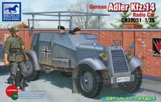 1/35 独アドラーKfz.14軽4輪装甲自動車無線機搭載型 プラモデル(1/35 German Adler Kfz. 14 Radio Car Plastic Model(Back-order))