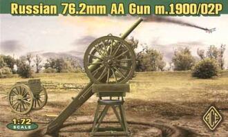 1/72 露・76.2mm対空高射砲1900/02型 プラモデル(1/72 Russian 76.2mm Antiaircraft Gun 1900/02 Plastic Model(Back-order))