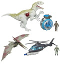 "Jurassic-world / capture vehicle action figure series 1: 3 pieces with carton [Hasbro], ""June proposed."""
