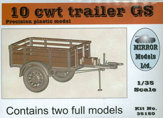 1/35 CMP 10cwt トレーラー GS プラモデル(1/35 CMP 10cwt Trailer GS Plastic Model(Back-order))