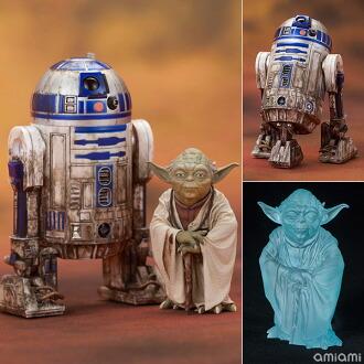 ARTFX+ スター・ウォーズ エピソード5/帝国の逆襲 ヨーダ & R2-D2 ダゴバパック 1/10 簡易組立キット(ARTFX+ - Star Wars Episode V The Empire Strikes Back: Yoda & R2-D2 Dagobah Pack 1/10 Easy Assembly Kit(Released))