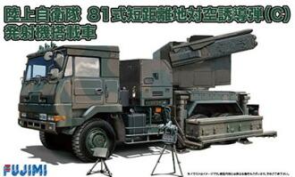 1/72 ミリタリーシリーズ No.10 陸上自衛隊 81式 短距離地対空誘導弾(C) 発射機搭載車 プラモデル(1/72 Military Series No.10 JGSDF Type 81 Surface-to-Air Missile (C) Firing Machine Equipped Vehicle Plastic Model(Back-order))