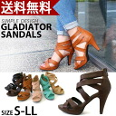 Total sales exceed 1,500 feet! Adult legs 9 cm heeled クロスストラップグラディエーター Sandals select 2 material / smooth / nubuck women's / Gladiator / heels / Sandals / strap / simple / spring / black /25.0cm