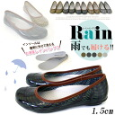 Dot pattern and check pattern rain shoes 1.5 cm / ヒールレイン pumps and rubber shoes