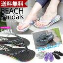 クリアビーズトングビーチ Sandals beaded / tongs / Sandals / ビーチサンダル / resort / low heel / sea / ラバーサンダル / Rainbow