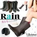 シンプルラバーレイン boots Fabio lscorni wind 1.0 cm heel ☆ rain shoes / Puss in boots Puss in boots / rubber boots /